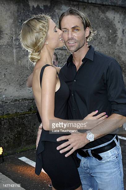 Alena Gerber and Sven Hannawald attends the Movie Meets Media Party during the Munich Film Festival at P1 on July 2 2012 in Munich Germany