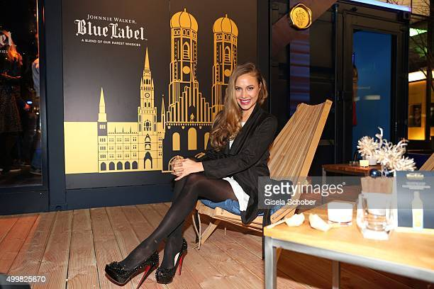 Alena Gerber attends the opening party of the Johnnie Walker Blue Label PopUp area at Brenner on December 3 2015 in Munich Germany