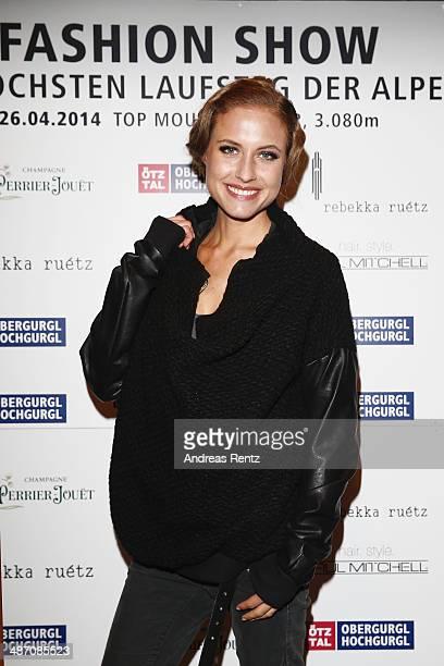Alena Gerber attends the Rebekka Ruetz Fashion Show at Top Mountain Star on April 26 2014 at Hochgurgl near Solden Austria