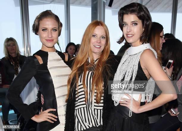 Alena Gerber designer Rebekka Ruetz and Marie Nasemann attend the Rebekka Ruetz Fashion Show at Top Mountain Star on April 26 2014 at Hochgurgl near...