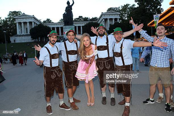 Alena Gerber during the Oktoberfest 2015 at Theresienwiese on September 21 2015 in Munich Germany