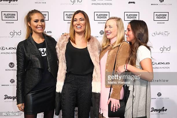 Alena Gerber Jana Ina Zarrella Melina Fischer and Sarah Engels attend the Platform Fashion Selected show during Platform Fashion January 2016 at...