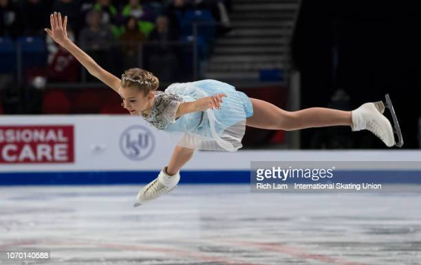 Alena Kanysheva of Russia competes in the Free Skate portion of the Junior Ladies Championships on December 2018 at the ISU Junior Senior Grand Prix...