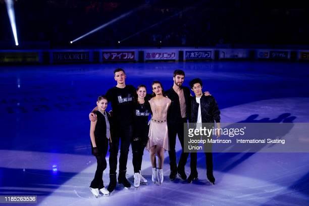 Alena Kostornaia of Russia Anastasia Mishina and Aleksandr Galliamov of Russia Gabriella Papadakis and Guillaume Cizeron of France and Nathan Chen of...