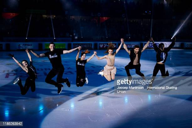 Alena Kostornaia of Russia Anastasia Mishina and Aleksandr Galliamov of Russia Gabriella Papadakis and Guillaume Cizeron of France and Nathan Chen of...