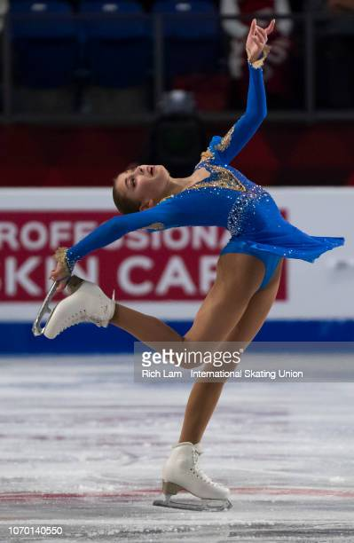 Alena Kostornaia of Russia competes in the Free Skate portion of the Junior Ladies Championships on December 2018 at the ISU Junior Senior Grand Prix...