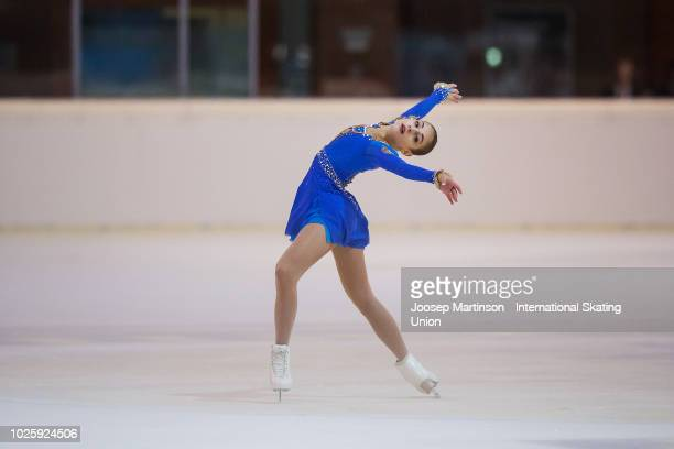 Alena Kostornaia of Russia competes in the Junior Ladies Free Skating during day three of the ISU Junior Grand Prix of Figure Skating at Keine Sorgen...