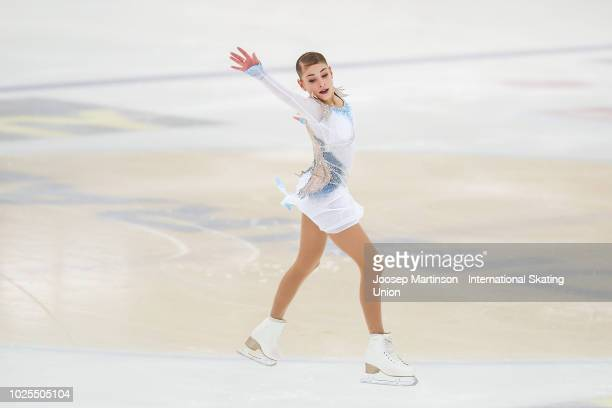 Alena Kostornaia of Russia competes in the Junior Ladies Short Program during day one of the ISU Junior Grand Prix of Figure Skating at Keine Sorgen...