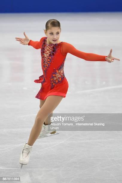 Alena Kostornaia of Russia competes in the Junior ladies short progam during the ISU Junior Senior Grand Prix of Figure Skating Final at Nippon...