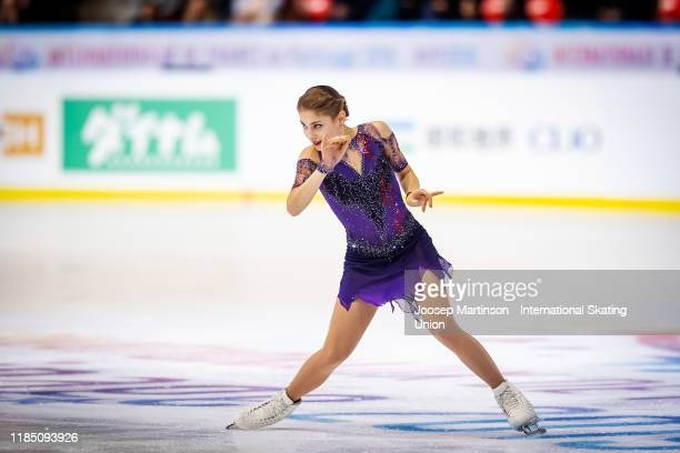 Alena Kostornaia of Russia competes in the Ladies Free Skating during day 2 of the ISU Grand Prix of Figure Skating Internationaux de France at...