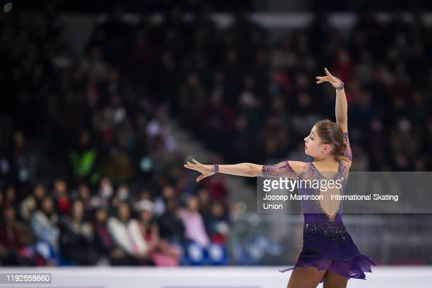 Alena Kostornaia of Russia competes in the Ladies Free Skating during the ISU Grand Prix of Figure Skating Final at Palavela Arena on December 07...