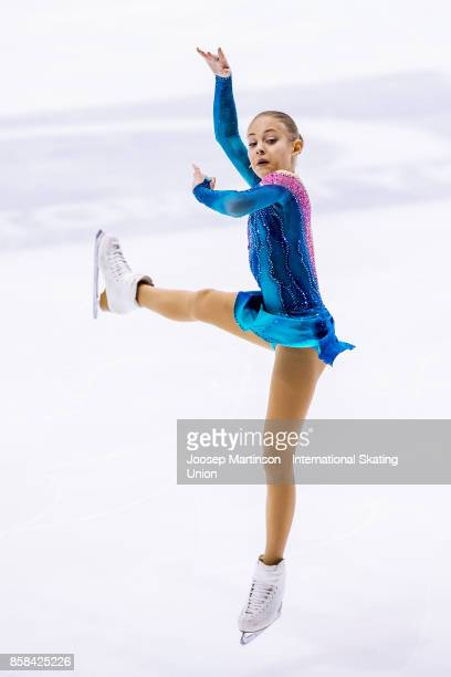 Alena Kostornaia of Russia competes in the Ladies Free Skating during day two of the ISU Junior Grand Prix of Figure Skating at Olivia Ice Rink on...