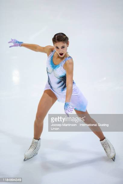 Alena Kostornaia of Russia competes in the Ladies Short Program during day 1 of the ISU Grand Prix of Figure Skating Internationaux de France at...