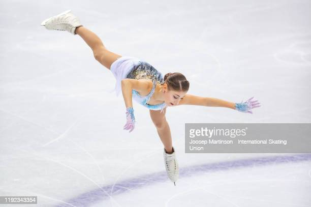 Alena Kostornaia of Russia competes in the Ladies Short Program during the ISU Grand Prix of Figure Skating Final at Palavela Arena on December 06...