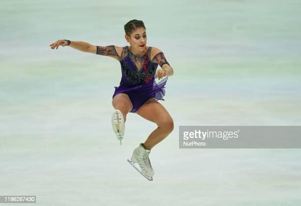 Alena Kostornaia of Russia in action during Ladies Free Skating at ISU European Figure Skating Championships in Steiermarkhalle Graz Austria on...