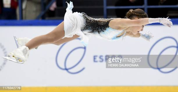 Alena Kostornaia of Russia performs her routine during the Ladies short program in the international figure skating competition Finlandia Trophy in...