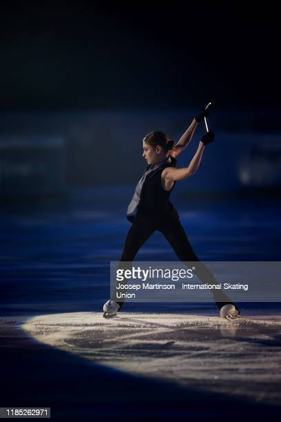 Alena Kostornaia of Russia performs in the gala exhibition during day 3 of the ISU Grand Prix of Figure Skating Internationaux de France at Polesud...