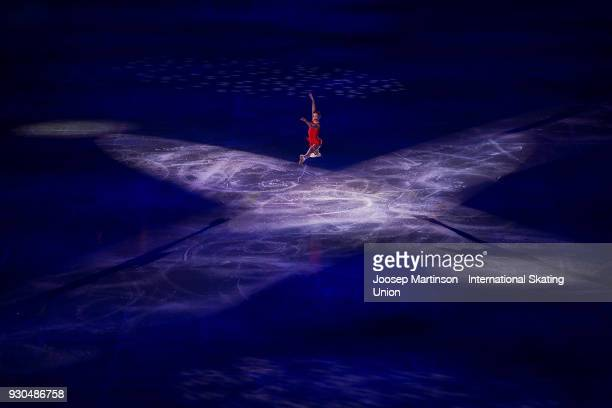 Alena Kostornaia of Russia performs in the Gala Exhibition during the World Junior Figure Skating Championships at Arena Armeec on March 11 2018 in...
