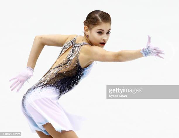 Alena Kostornaia of Russia performs in the women's short program at figure skating's Grand Prix Final in Turin Italy on Dec 6 2019