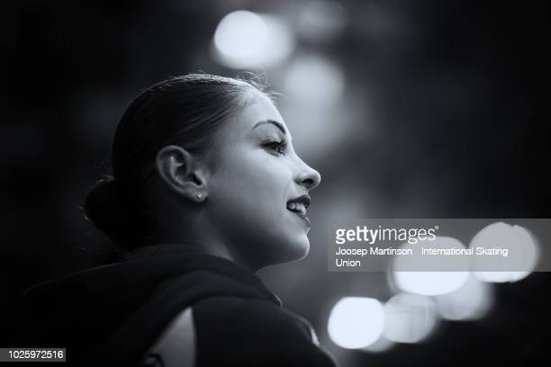 Alena Kostornaia of Russia prepares in the Junior Ladies Free Skating during day three of the ISU Junior Grand Prix of Figure Skating at Keine Sorgen...