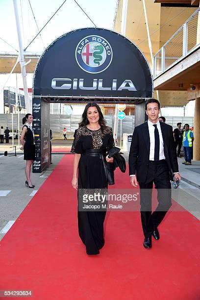 Alena Seredova and Alessandro Nasi arrive at Bocelli and Zanetti Night on May 25 2016 in Rho Italy