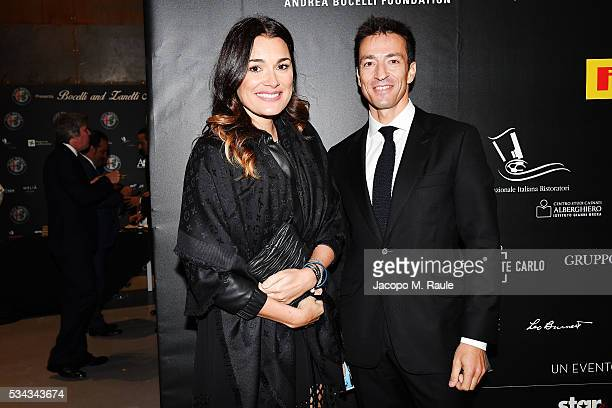 Alena Seredova and Alessandro Nasi attend dinner gala for Bocelli and Zanetti Night on May 25, 2016 in Rho, Italy.