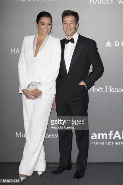 Alena Seredova and Alessandro Nasi attend the red carpet of amfAR Gala Milan at La Permanente in Milano Italy on September 2017