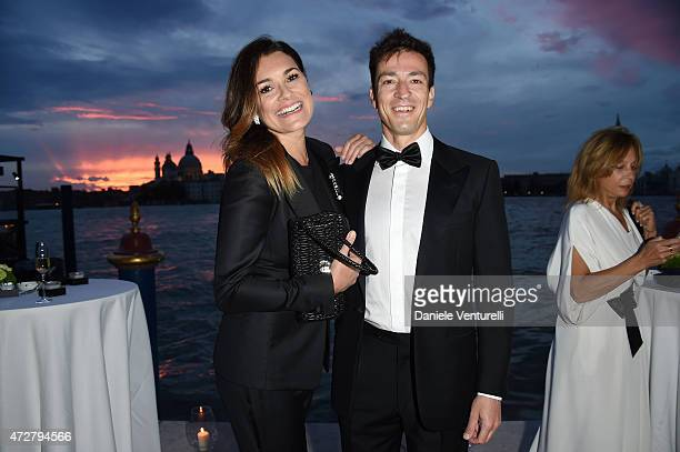 Alena Seredova and Alessandro Nasi attend the Venetian Heritage And Bulgari Gala Dinner at Cipriani Hotel on May 9, 2015 in Venice, Italy.
