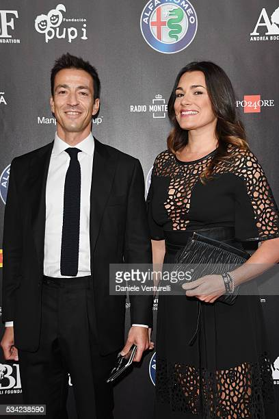 Alena Seredova and Alessandro Nasi walk the red carpet of Bocelli and Zanetti Night on May 25 2016 in Rho Italy