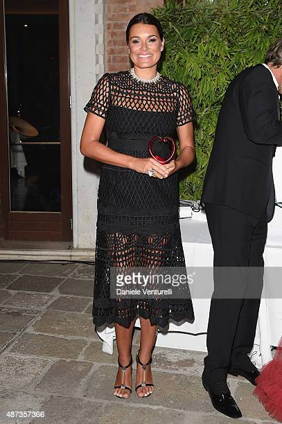 Alena Seredova attends a party for 'DivaDonna' 10th Anniversary Party during the 72nd Venice Film Festival at Palazzo del Casino on September 8 2015...