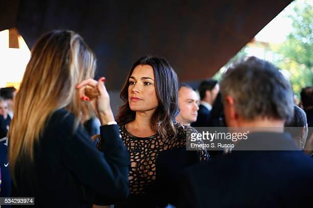 Alena Seredova attends Bocelli and Zanetti Night on May 25 2016 in Rho Italy