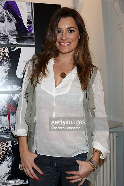 Alena Seredova attends Giuseppe Zanotti Design Press Day as part of Milan Womenswear Fashion Week on February 24, 2012 in Milan, Italy.