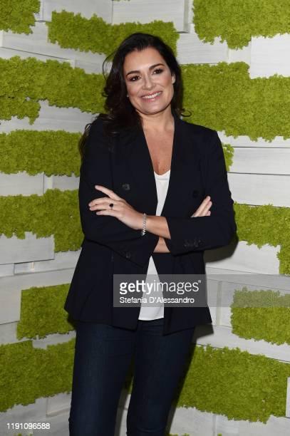 """Alena Seredova attends """"Le Parole Della Settimana"""" tv show on November 30, 2019 in Milan, Italy."""