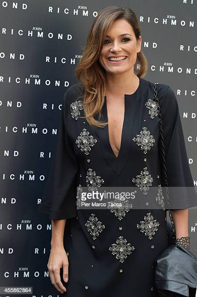 Alena Seredova attends on the John Richmond show during the Milan Fashion Week Womenswear Spring/Summer 2015 on September 21, 2014 in Milan, Italy.