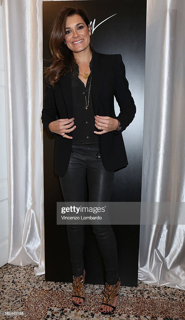 Alena Seredova attends the Giuseppe Zanotti Design Presentation during Milan Fashion Week Womenswear Fall/Winter 2013/14 on February 23, 2013 in Milan, Italy.