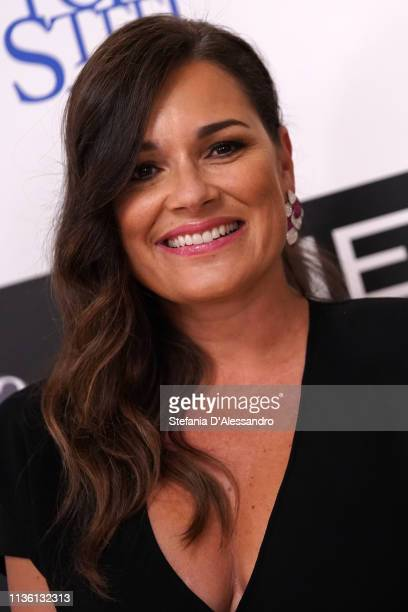 Alena Seredova is seen on red carpet of Never Give Up Onlus on March 15 2019 in Milan Italy