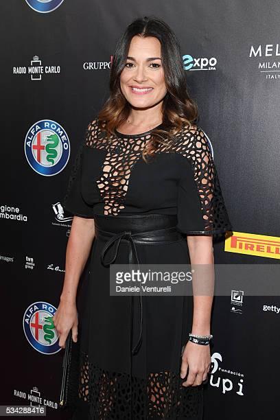 Alena Seredova walks the red carpet of Bocelli and Zanetti Night on May 25 2016 in Rho Italy