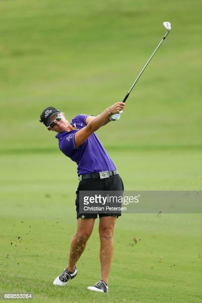 Alena Sharp of Canada plays her second shot on the 17th hole during the final round of the LPGA LOTTE Championship Presented By Hershey at Ko Olina...