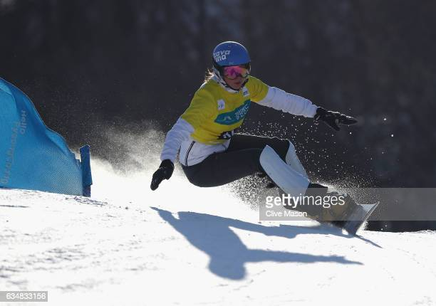 Alena Zavarzina of Russia in action and on her way to winning the FIS Freestyle World Cup Ladies Parallel Giant Slalom at Bokwang Snow Park on...