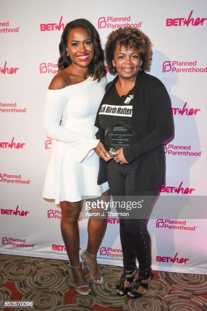 Alencia Johnson and Dr Joia CrearPerry pose at the 6th Annual Planned Parenthood Champions of Women's Health Brunch at The Hamilton on September 23...