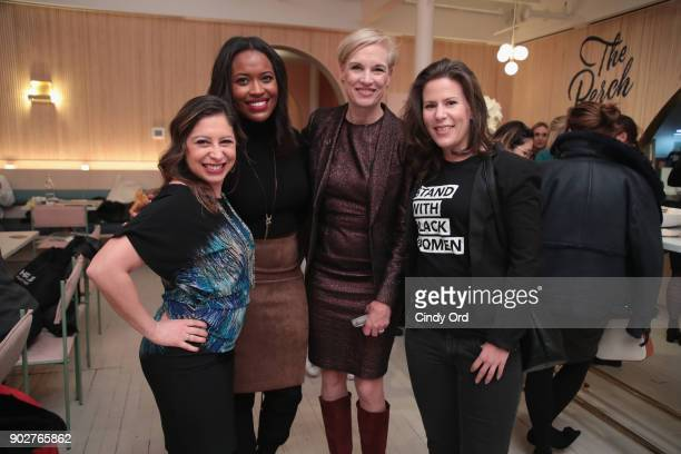Alencia Johnson Planned Parenthood CEO Cecile Richards and Cassady Fendlay attend the Together We Rise book launch celebrated by the Women's March...