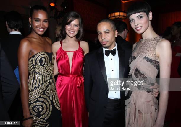 Alenis Sosa Emily DiDonato Kyle Hagler and Hanaa Ben Abdesslem attend the El Museo Del Barrio Gala at Cipriani 42nd Street on May 26 2011 in New York...
