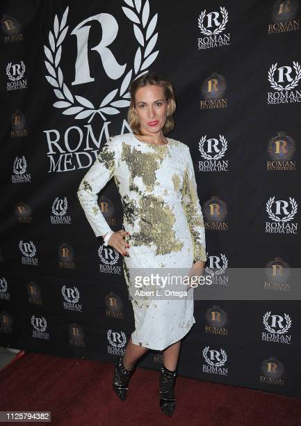 Alenka Slavinec arrives for Roman Media's 5th Annual Hollywood Event A Celebration of Women and Diversity in Film held at St Felix on February 18...