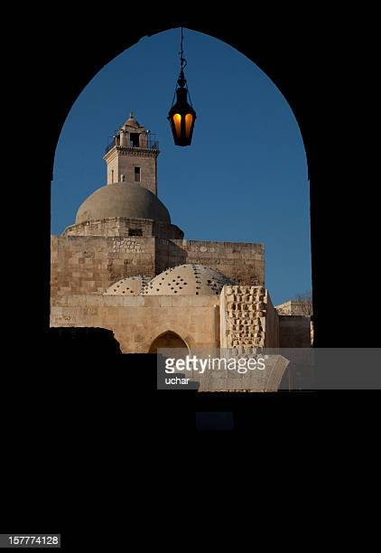 aleppo castle  gate - aleppo stock pictures, royalty-free photos & images