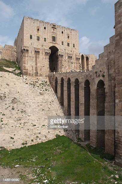 aleppo citadel. - aleppo stock pictures, royalty-free photos & images