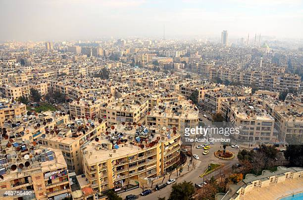 Aleppo City is seen on January 29 2015 in Apello Syria