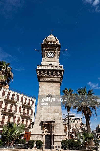 アレッポクロックタワー - アレッポ市 ストックフォトと画像
