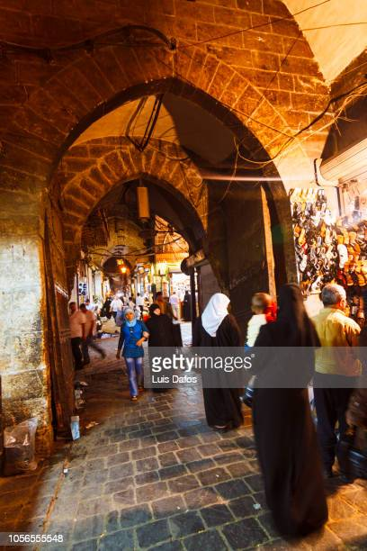 aleppo souks - dafos stock photos and pictures
