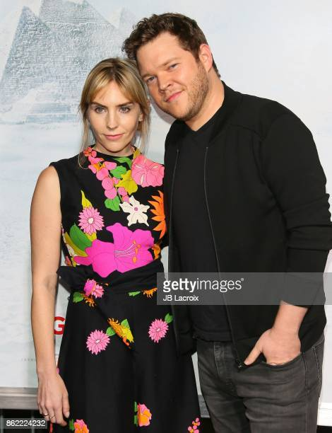 Aleque Reid and Harry Ford attend the premiere of Warner Bros Pictures' 'Geostorm' on October 16 2017 in Hollywood California