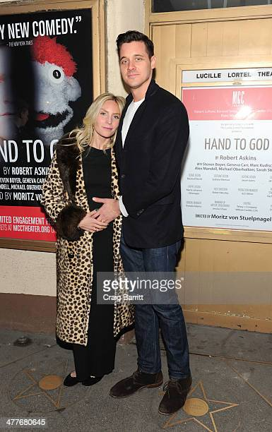 Aleque Reid attends the Hand To God Off Broadway opening night at Lucille Lortel Theatre on March 10 2014 in New York City
